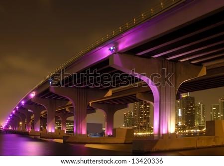 Wide Angled Soft Focus Bridge - stock photo