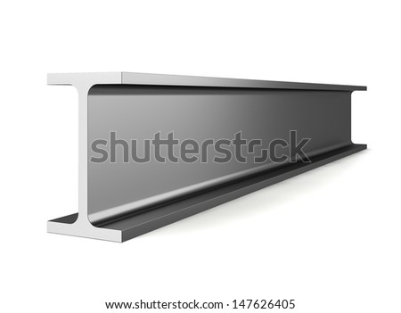 Wide flange. 3d illustration on white background  - stock photo