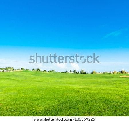 Wide Green Fairway