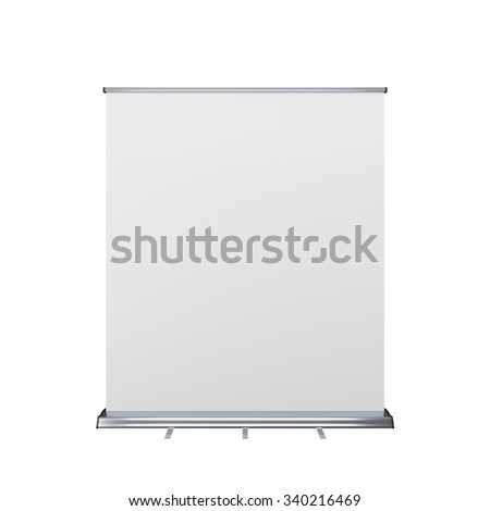 wide rollup or banner on white background