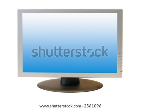 Wide Screen LCD Monitor - stock photo