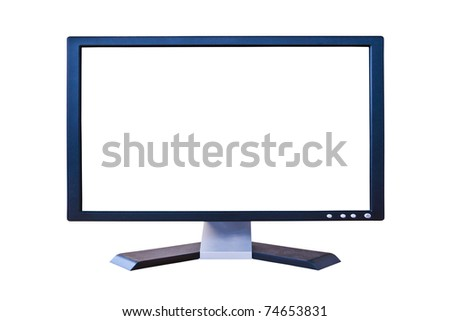 wide screen LCD monitor with blank screen - stock photo