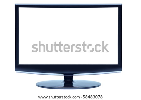 Wide Screen Monitor - stock photo