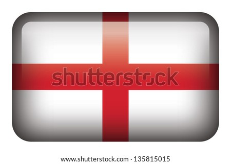 Wide square flag button series - England - stock photo