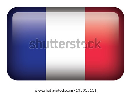 Wide square flag button series - France
