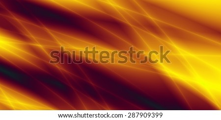 Wide wallpaper flow energy golden background - stock photo