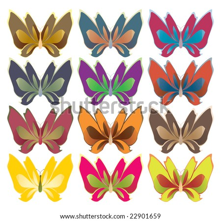 Wide wing butterflies - jpg version