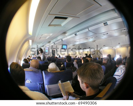 Wideanglephoto during flight - stock photo