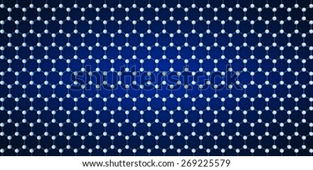 Widescreen blue background with a crystal lattice - stock photo