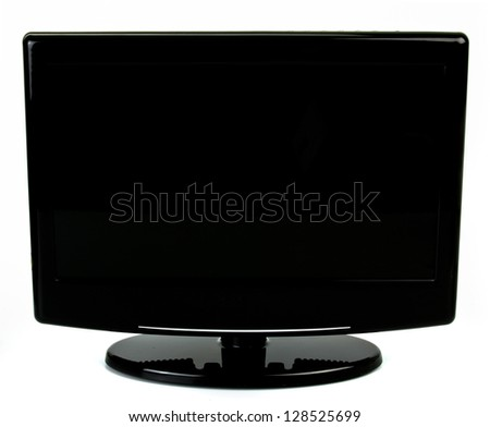 widescreen lcd monitor - stock photo