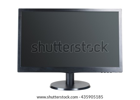widescreen monitor isolated on white background