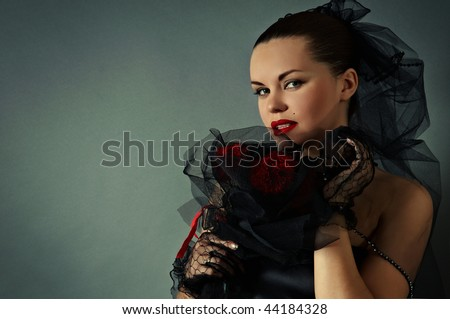 widow - stock photo