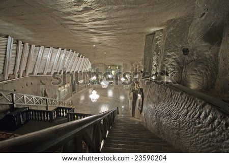 Wieliczka salt mine in Poland - stock photo