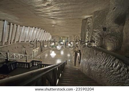 Wieliczka salt mine in Poland - stock photo