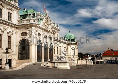 Wien, Belvedere - stock photo