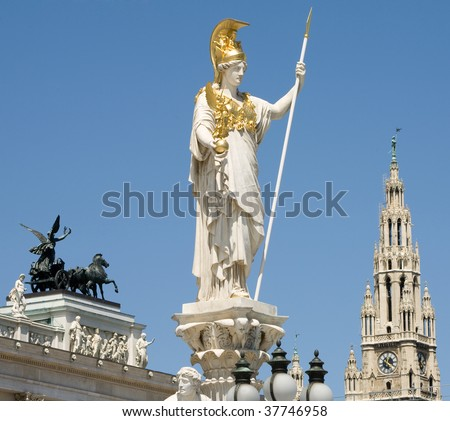 wienna symbols from parliament square - stock photo