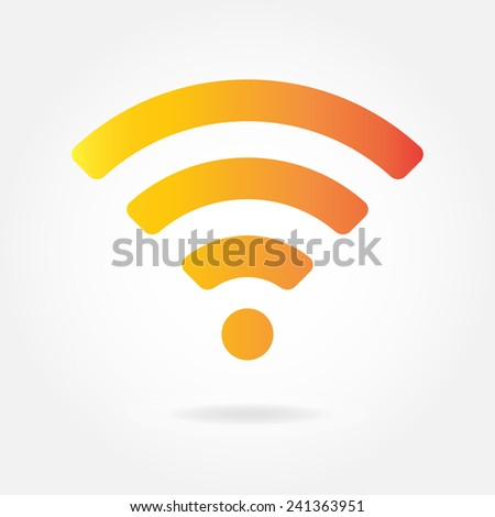 Wifi and wireless icon or sign for remote internet access. Podcast symbol. - stock photo