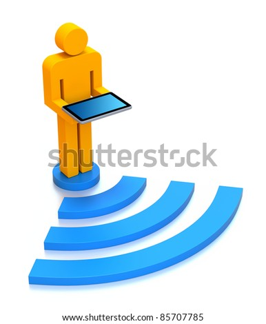 WiFi concept - stock photo