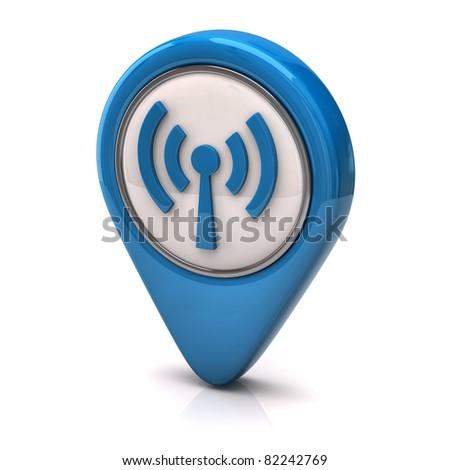 wifi icon - stock photo