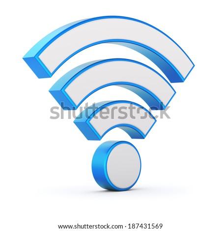WiFi symbol - stock photo
