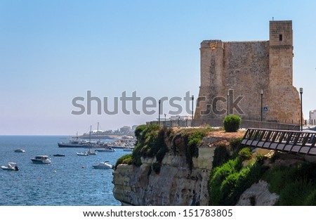 Wignacourt tower in the coast of Malta. - stock photo
