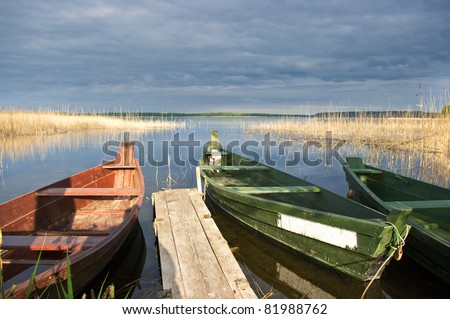 Wigry Lake in Poland - stock photo