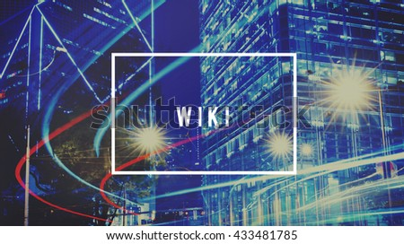 Wiki Answer Community Education Information Concept - stock photo