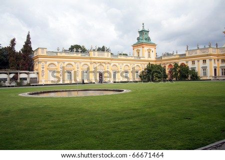 Wilanow in Warsow, Poland