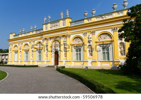 Wilanow Palace in Warsaw, Capital of Poland - stock photo