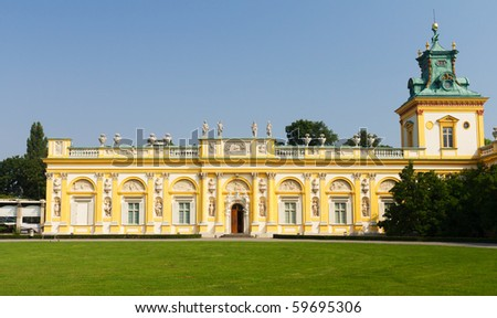 Wilanow Palace in Warsaw, Poland - stock photo