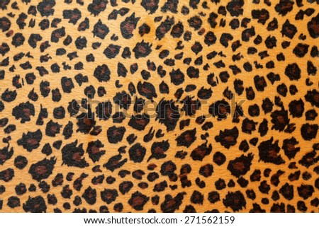 Wild African animal hide pattern brown jaguar   - stock photo