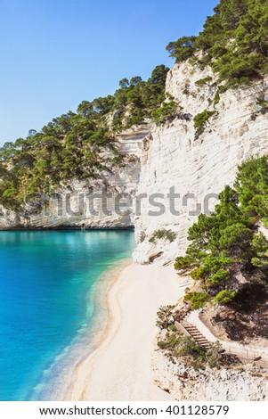 Wild beach in the Gargano (Baia delle Zagare beach), Italy - stock photo