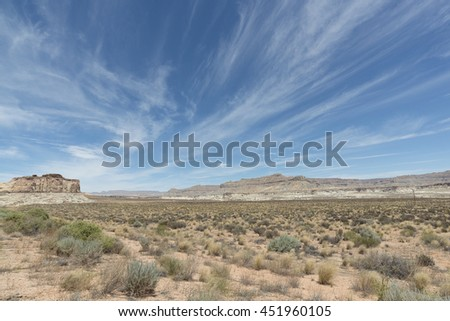 wild desert in Utah, USA near the town of Page