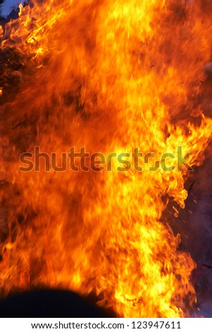 Wild red flame background