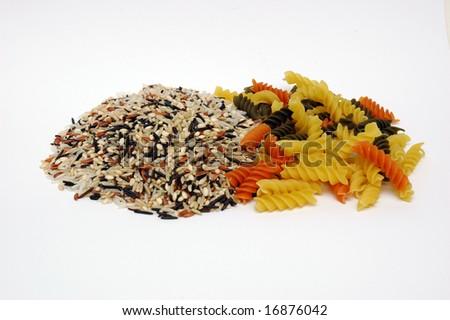 Wild Rice and Pasta - stock photo