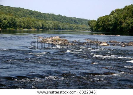 Wild & Scenic Delaware River - stock photo