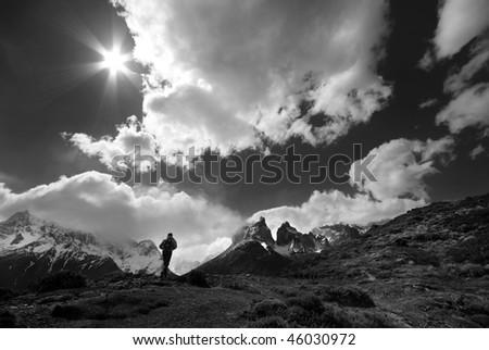Wild trekking - stock photo