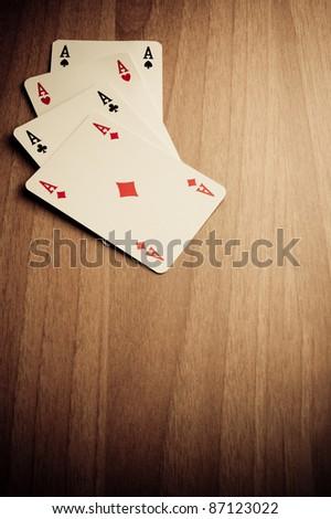 Wild West poker hand - stock photo