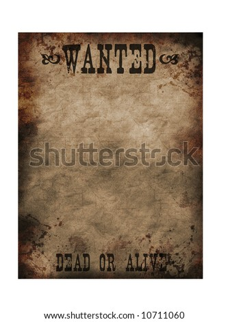 wild west poster - stock photo