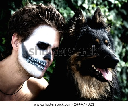 Wilderness is in each of us, whether it be animal or human - stock photo