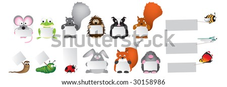 wildlife holding boards, signs - stock photo