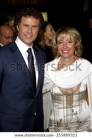 "Will Ferrell and Emma Thompson attend the Los Angeles Premiere of ""Stranger Than Fiction"" held at the Mann Village Theatre in Westwood, California, on October 30, 2006.  - stock photo"