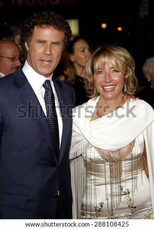 """Will Ferrell and Emma Thompson attend the Los Angeles Premiere of """"Stranger Than Fiction"""" held at the Mann Village Theatre in Westwood, California, on October 30, 2006.  - stock photo"""