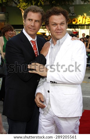 Will Ferrell and John C. Reilly at the Los Angeles premiere of 'Step Brothers' held at the Mann Village Theater in Westwood on July 15, 2008.  - stock photo