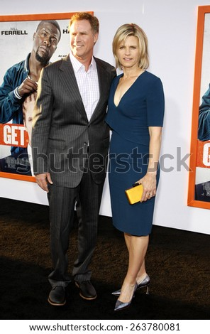 Will Ferrell and Viveca Paulin at the Los Angeles premiere of 'Get Hard' held at the TCL Chinese Theater IMAX in Hollywood, USA on March 25, 2015.  - stock photo