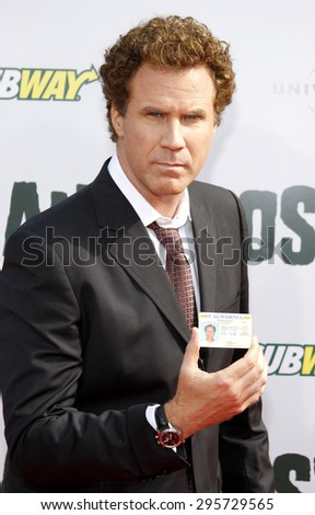 Will Ferrell at the Los Angeles premiere of 'Land Of The Lost' held at the Grauman's Chinese Theatre in Hollywood on May 30, 2009.  - stock photo
