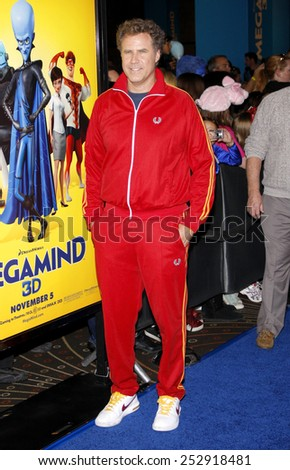 "Will Ferrell at the Los Angeles Premiere of ""Megamind"" held at the Hollywood and Highland in Hollywood, California, United States on October 30, 2010.  - stock photo"