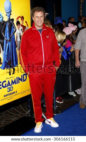 Will Ferrell at the Los Angeles premiere of 'Megamind' held at the Hollywood and Highland in Hollywood, USA on October 30, 2010. - stock photo