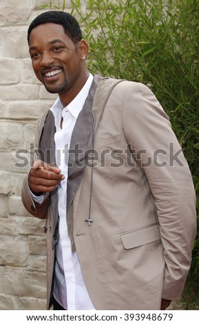 """Will Smith at the Los Angeles Premiere of """"The Karate Kid"""" held at the Mann Village Theater in Westwood, USA on June 7, 2010.  - stock photo"""