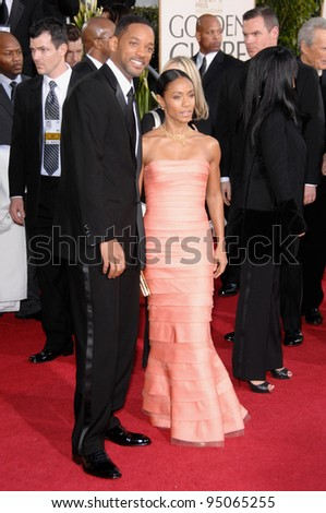 WILL SMITH & wife JADA PINKETT SMITH at the 64th Annual Golden Globe Awards at the Beverly Hilton Hotel. January 15, 2007 Beverly Hills, CA Picture: Paul Smith / Featureflash